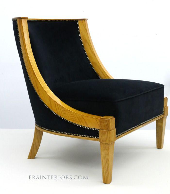 modern deco furniture. Art Deco Slipper Chair #diningchairs #velvetchair #chairdesign Comfortable Chair, Modern Chairs Ideas Furniture