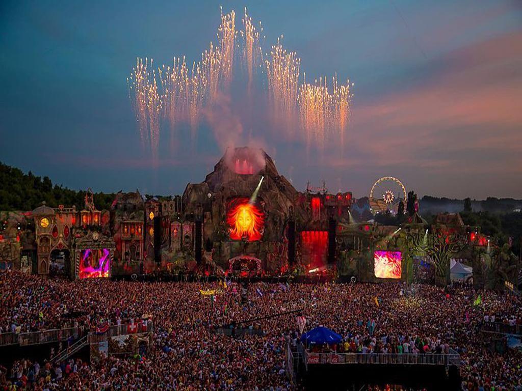 Tomorrowland Laser Show Hd Wallpapers Wallpaper