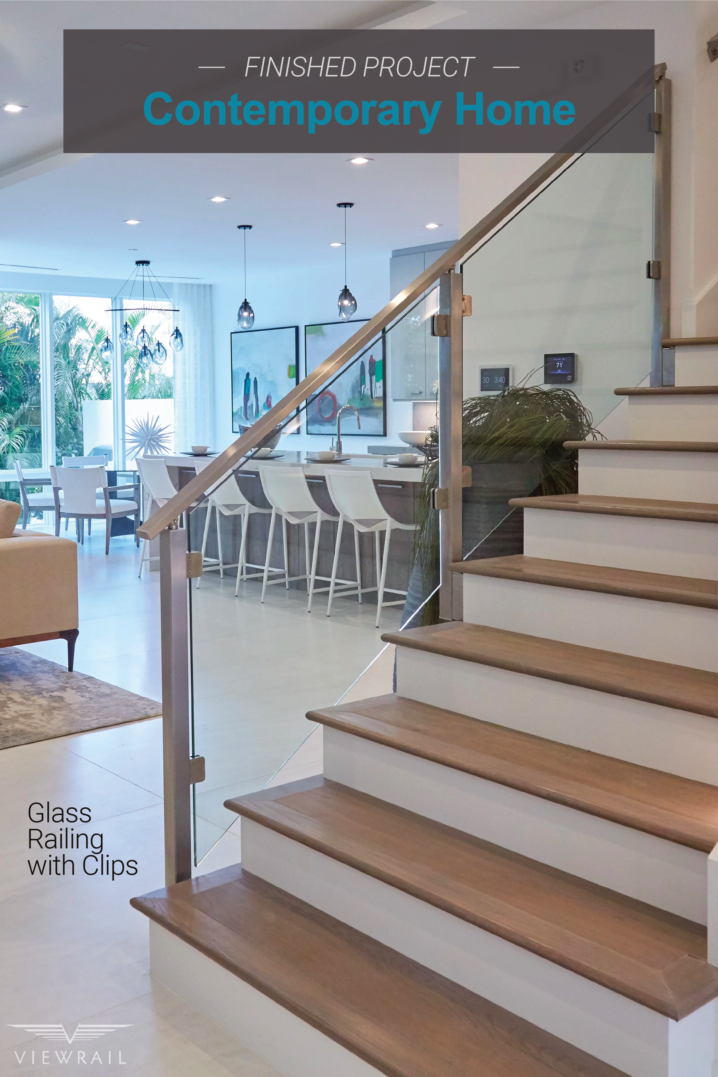 Contemporary Home Glass Staircase Glass Staircase Glass | Glass Staircase Panels Near Me | Glass Railing Systems | Wood | Spiral Staircase | Stair Parts | Stainless Steel