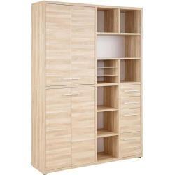 Maja Möbel Set+ Büroschrank 155,7x40x216,4cm Eiche Natur Majamaja