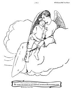 guardian angel catholic coloring page