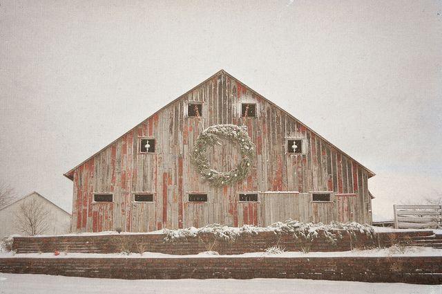 christmas barn Barn, Decorating and Window