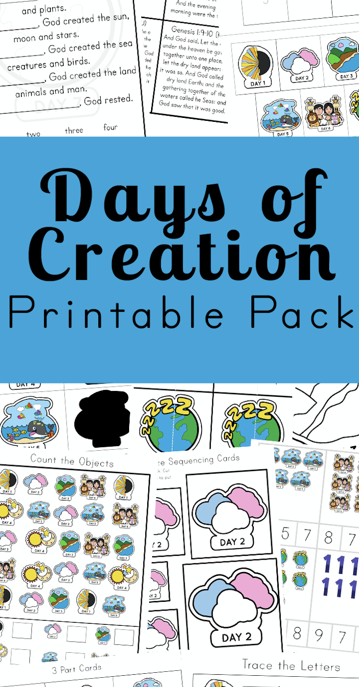 Free Days of Creation Printable Pack | Days of creation ...