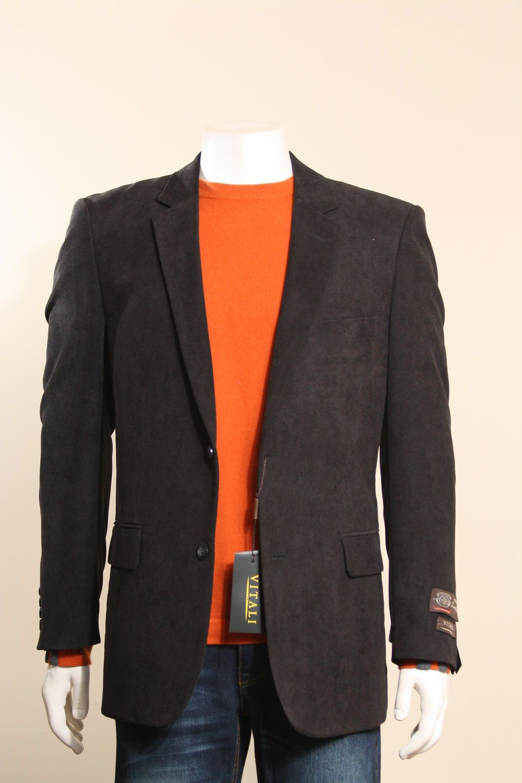 casual jeans and blazer style NewMens2ButtonBlack