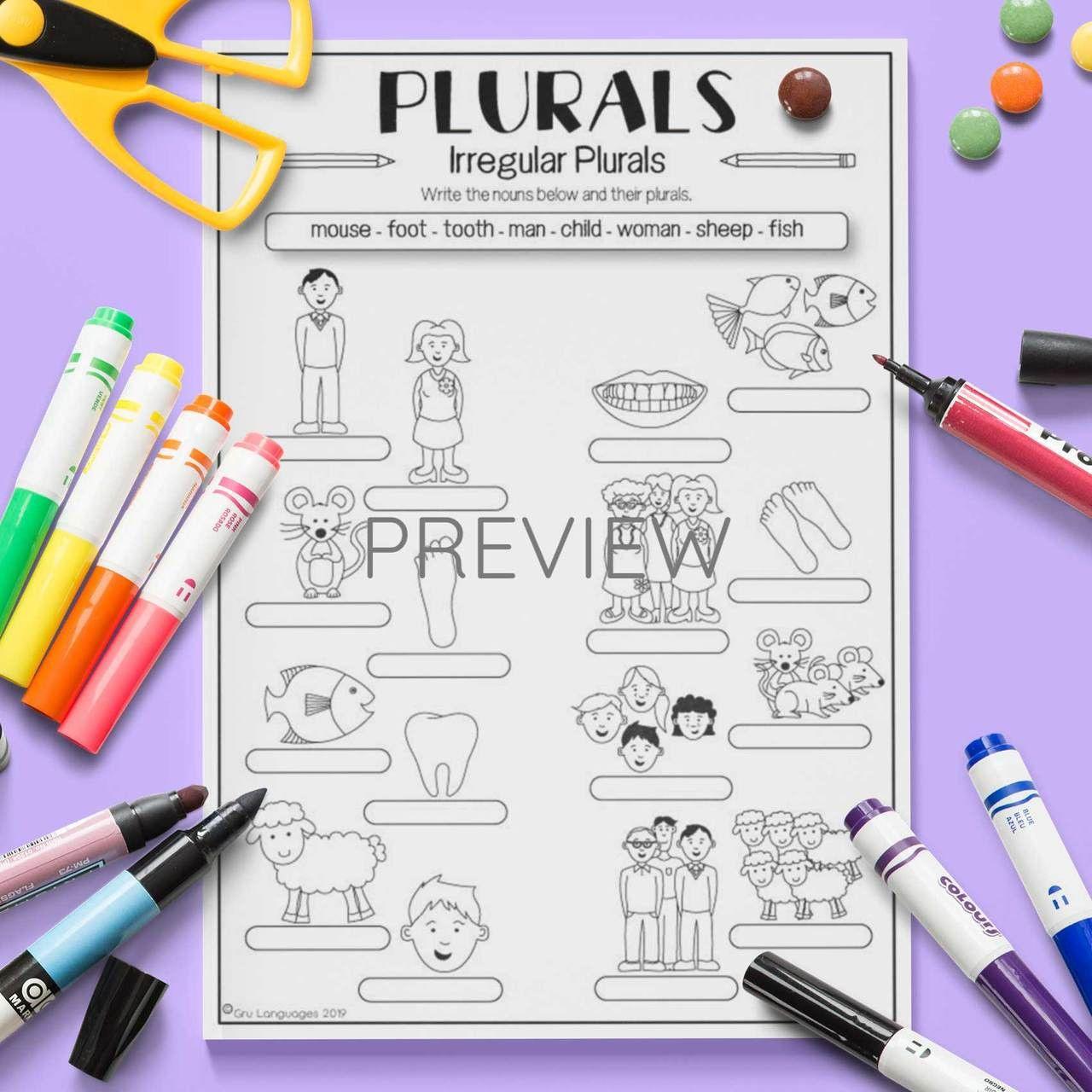 5 Irregular Plural Nouns Worksheet In