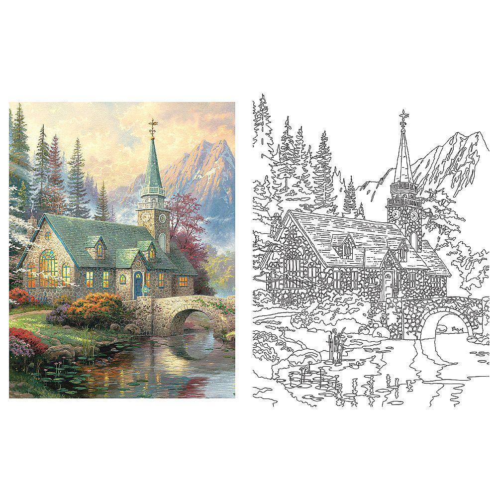 Additional Views Thomas Kinkade Coloring Book Misc Pinterest