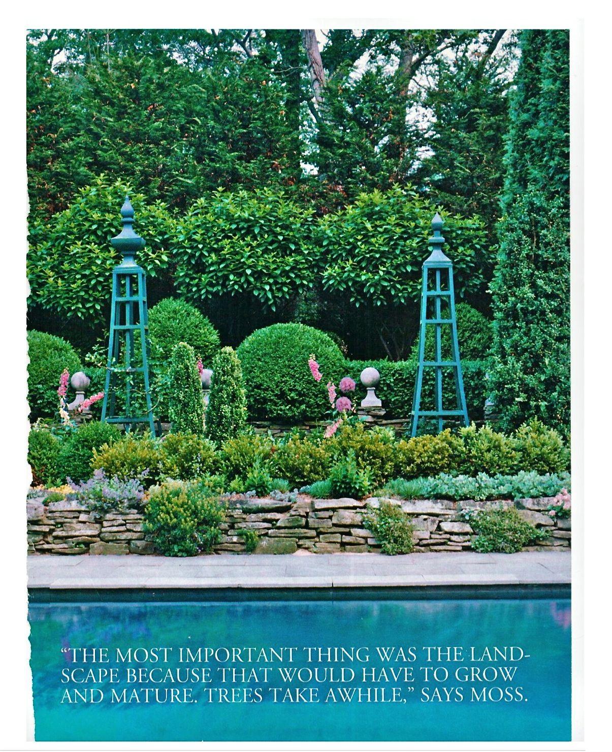 Treillage obelisks to tie plantings to other decorative elements ...