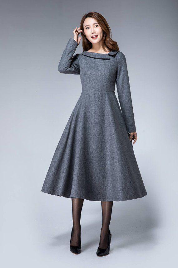 wollen winter jurk