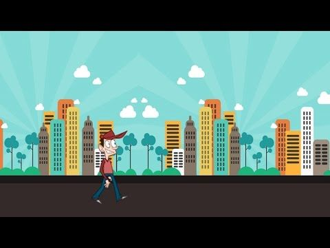 The Teacher | Realistic Animated Walk Cycle in PowerPoint