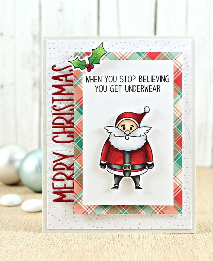 Joy Moody Santa Rustic Christmas Merry Border