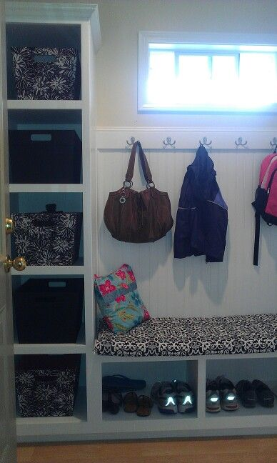 Our Small Mudroom Entry Addition Between The Garage And Dining Room Hubby Designed Built It All Total Cost About 850 Added Value In Having 3 Kids