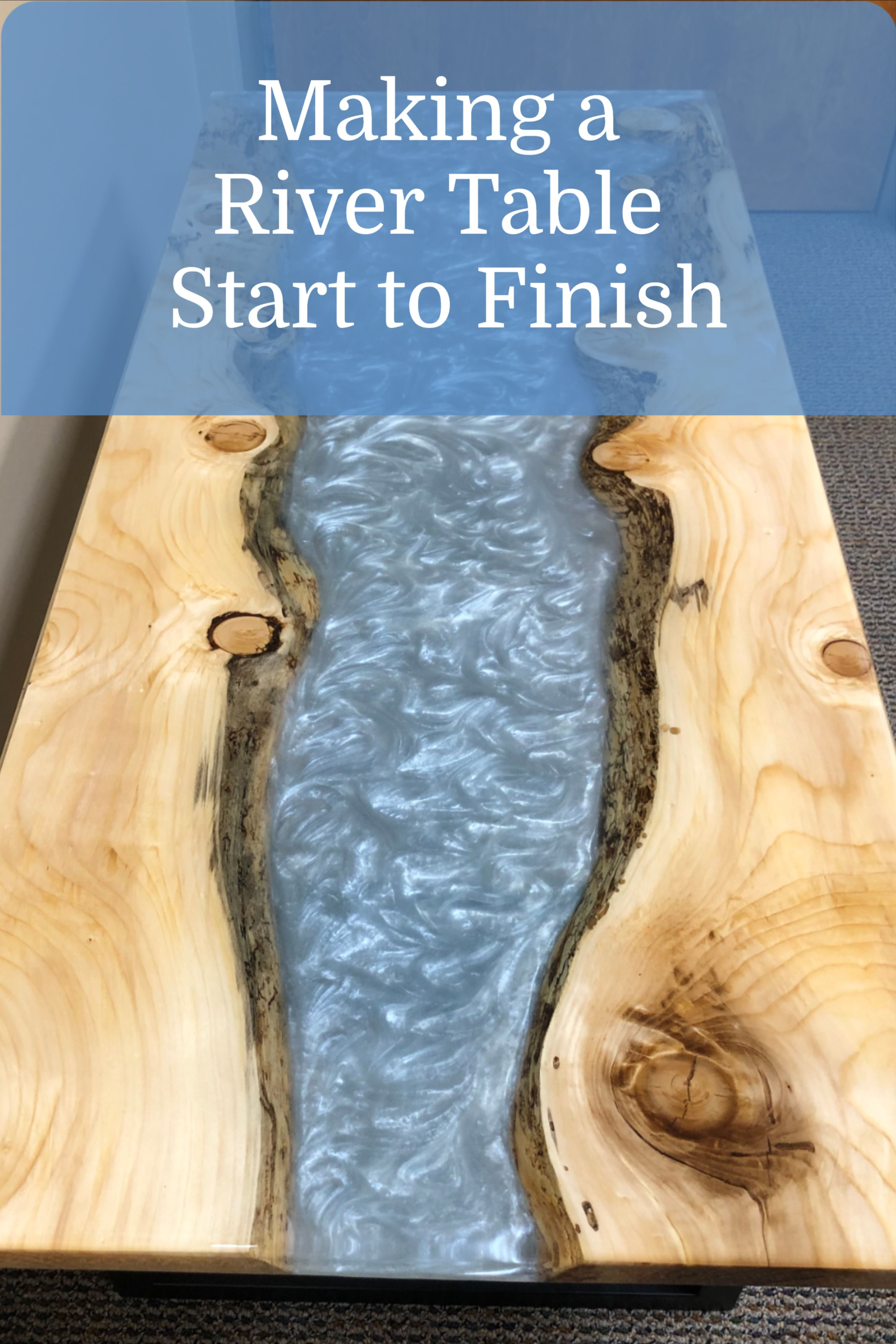 Epoxy Resin Table: How to make a river table start