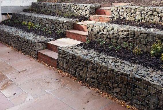 Modern Stone Retaining Wall 画像あり 蛇籠壁 フェンスの