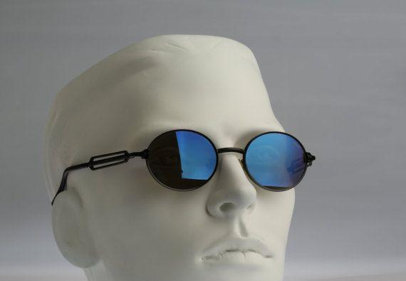 9b8512d2578 Police 2282   NOS   90S   Vintage sunglasses   Round designer eyewear.