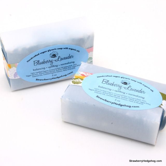 This vegan, organic body soap is made with blueberry, lavender, lemon and vanilla! Strawberry Hedgehog soaps are hand crafted from natural plant based ingredients: Organic coconut oil, organic palm oil, & pure veggie glycerin make the gentlest soaps that wash away smoothly. No artificial fragrances, dyes or preservatives. Only $8 & the proceeds support NWB!