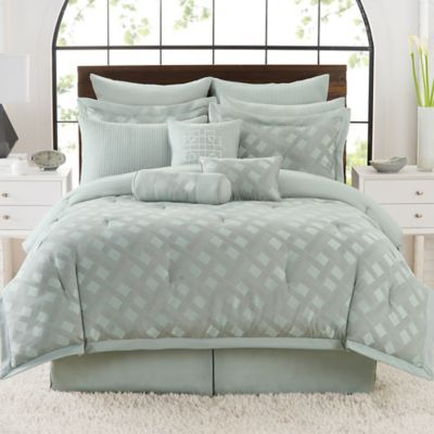 Satin Lattice Comforter Set 106x92