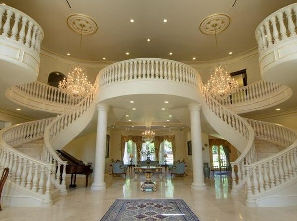Pin By Annette Wyant Marble On Stair Cases House Entrance Dream House Expensive Houses