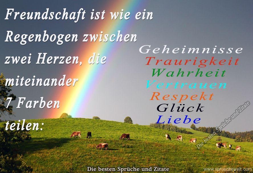 Freundschaft ist wie ein Regenbogen | Orginelles | Friends