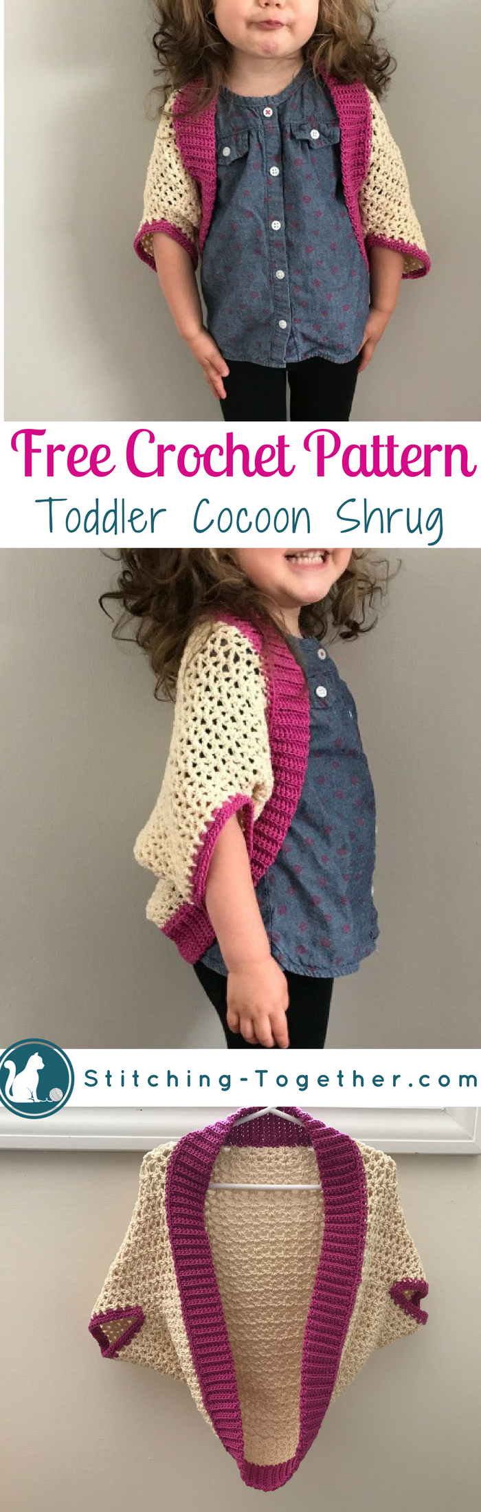 Crochet toddler cocoon shrug crochet blankets free crochet and adorable toddler cocoon shrug click through for the free crochet pattern for this toddler cocoon bankloansurffo Choice Image