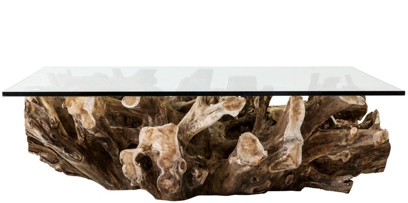 Teak Root Coffee Table - Rectangular For Sale (With images ...