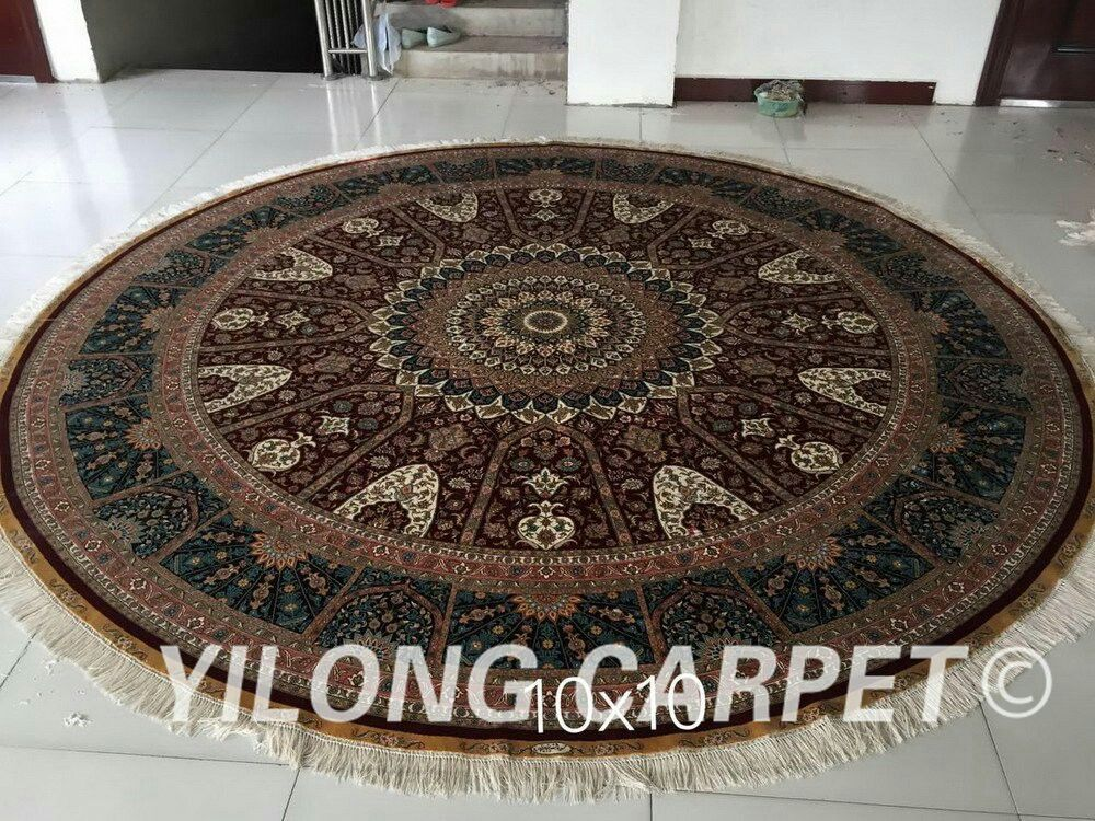 New Finished 10 14ft Handmade Persian Silk Rug From Yilong Carpet