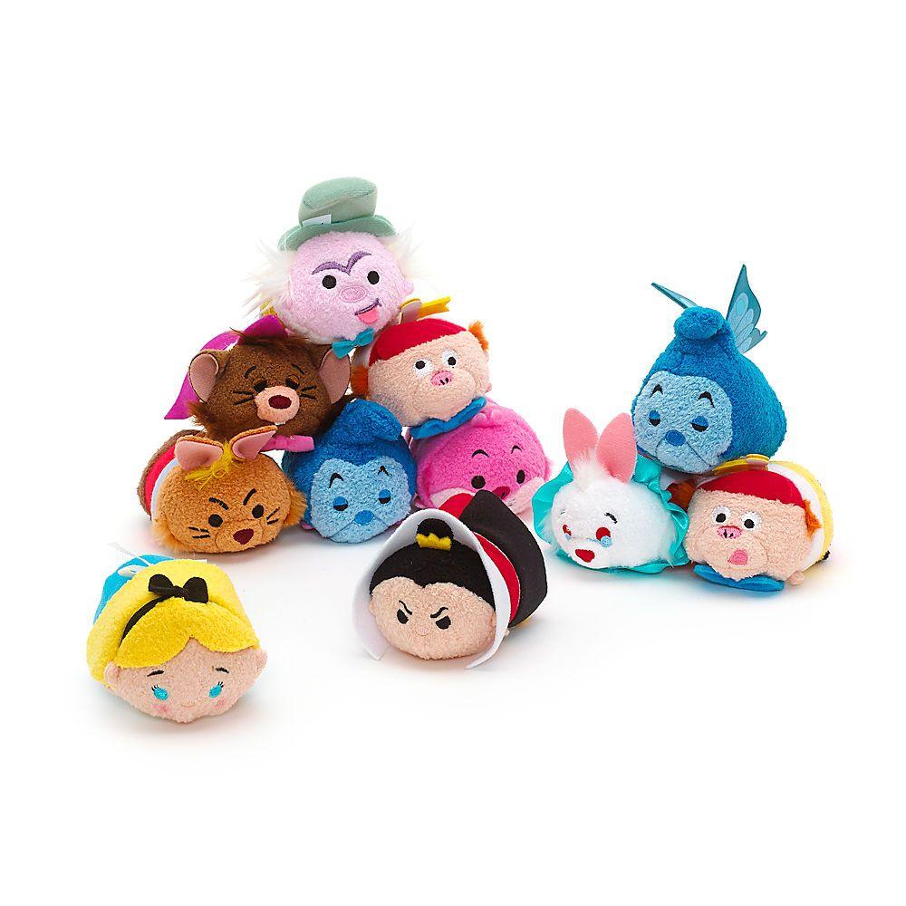 Disney Store Authentic Alice in Wonderland mini Tsum Tsum Complete Set Of 11 NWT