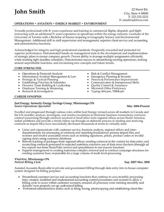 Click Here To Download This Senior Operations Specialist Resume Template Http Www Resumetemplate Manager Resume Retail Resume Template Operations Management