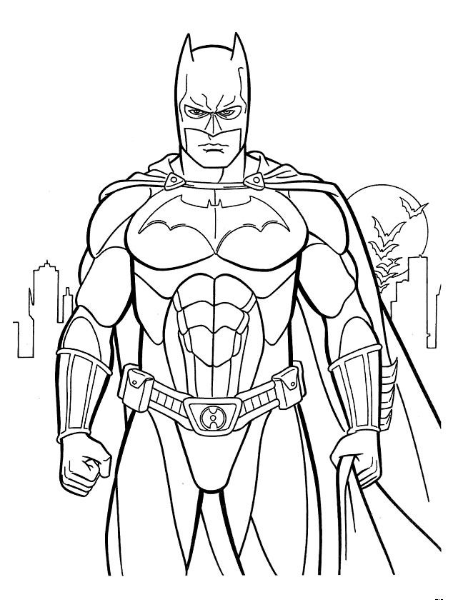 free printable batman coloring pages Kids Under 7 Batman