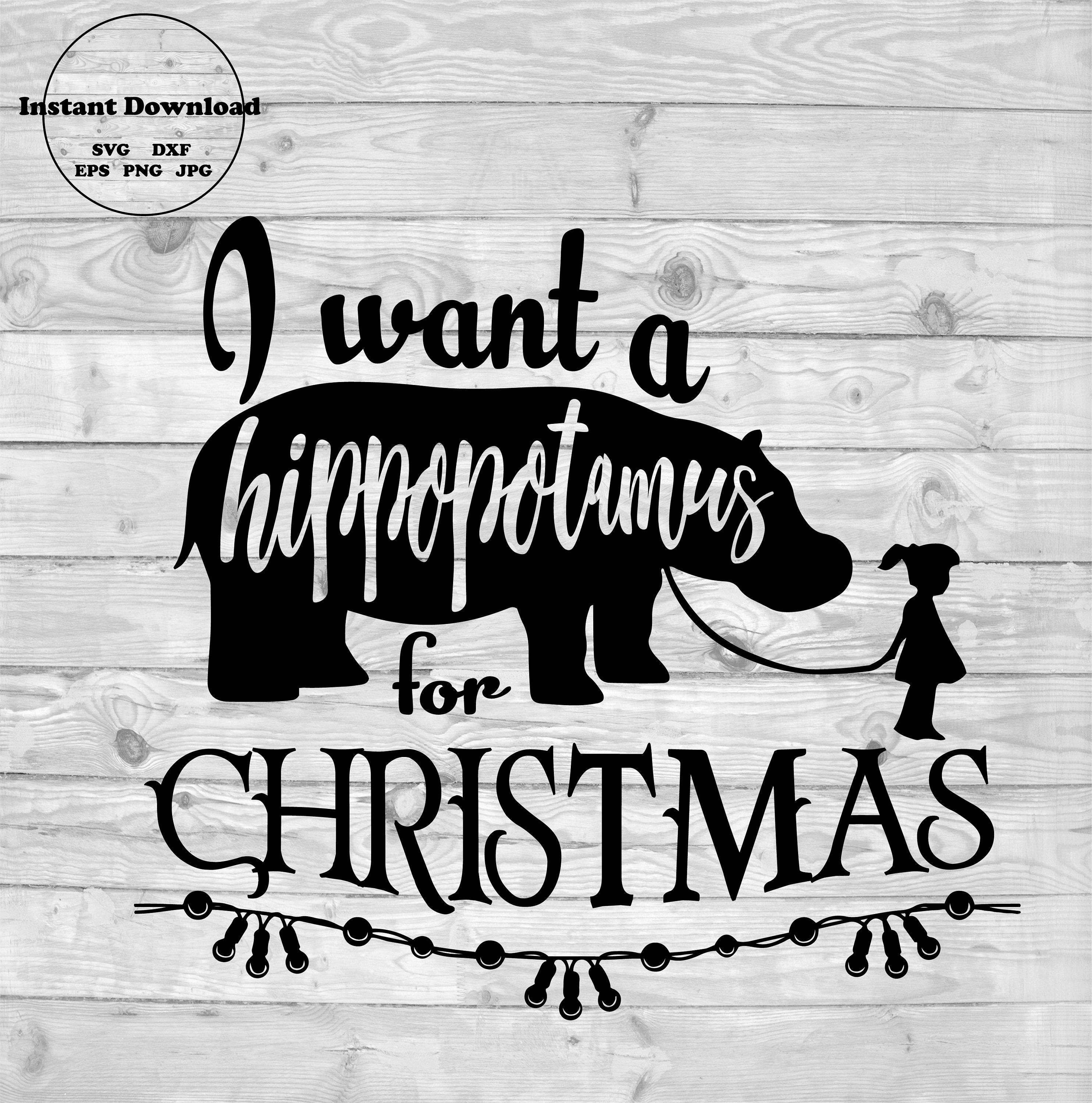 All I Want For Christmas Is A Hippopotamus T Shirt By Playpatch Boys Christmas Shirt Boys Christmas Christmas Girl