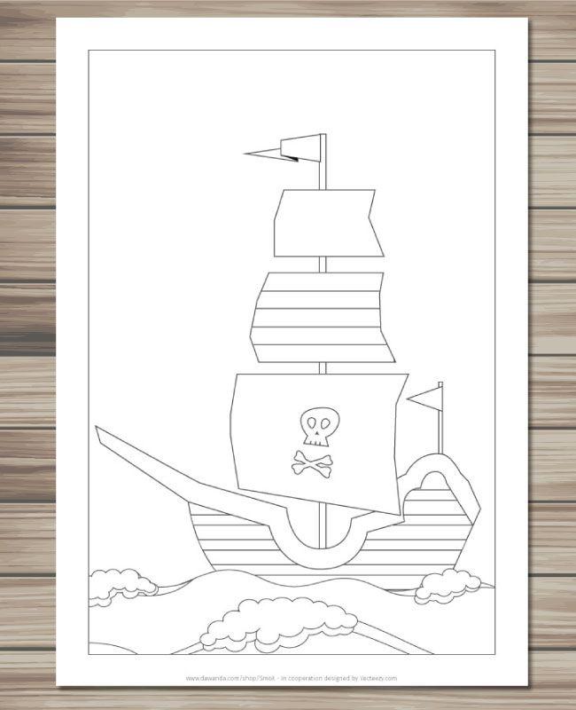 Pdf Ausmalbilder Piraten Ausmalbilder Kinder Malbuch Kinder