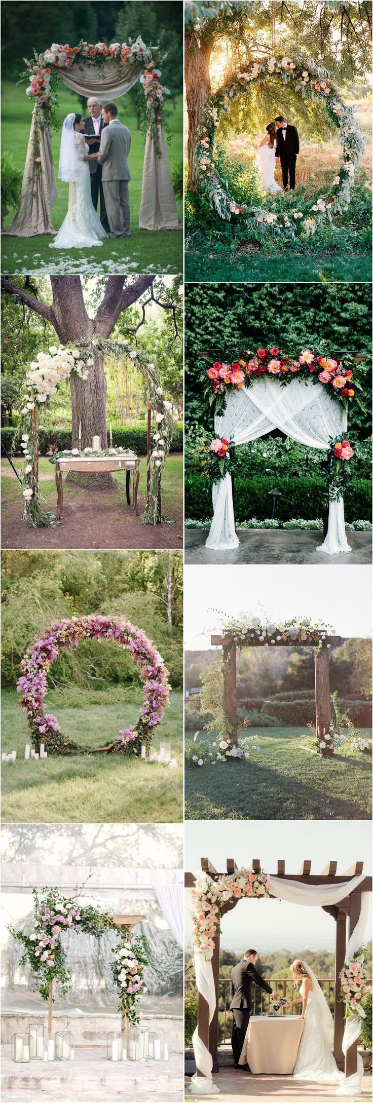 Top 20 Floral Wedding Arch Canopy Ideas #hochzeitsdeko