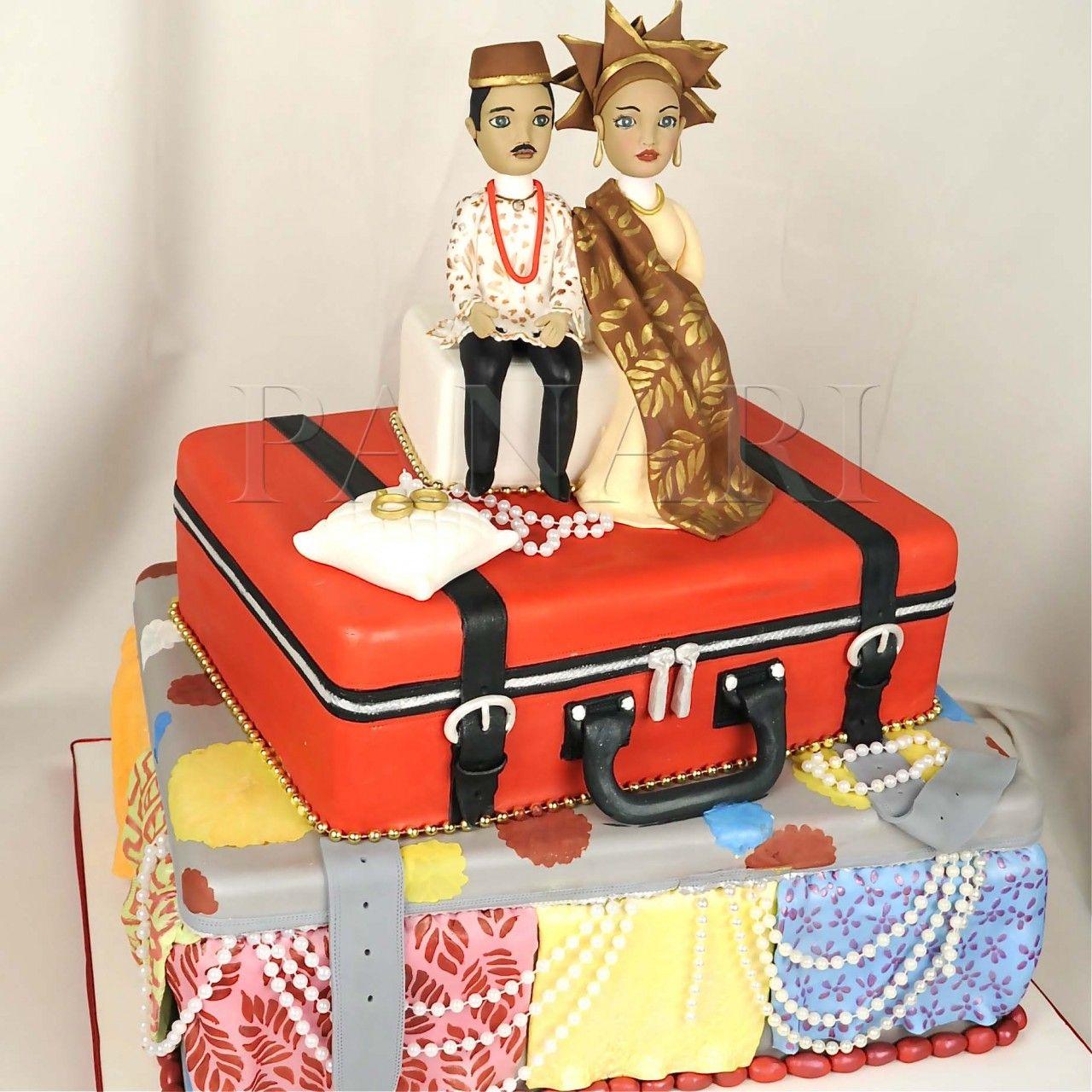 TRADITIONAL AFRICAN BRIDE & GROOM CAKE