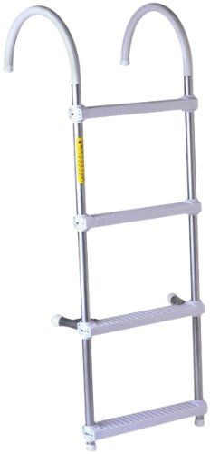 Deluxe Gunwale Hook Ladders 4 Step 11 Ladder Dock Ladder