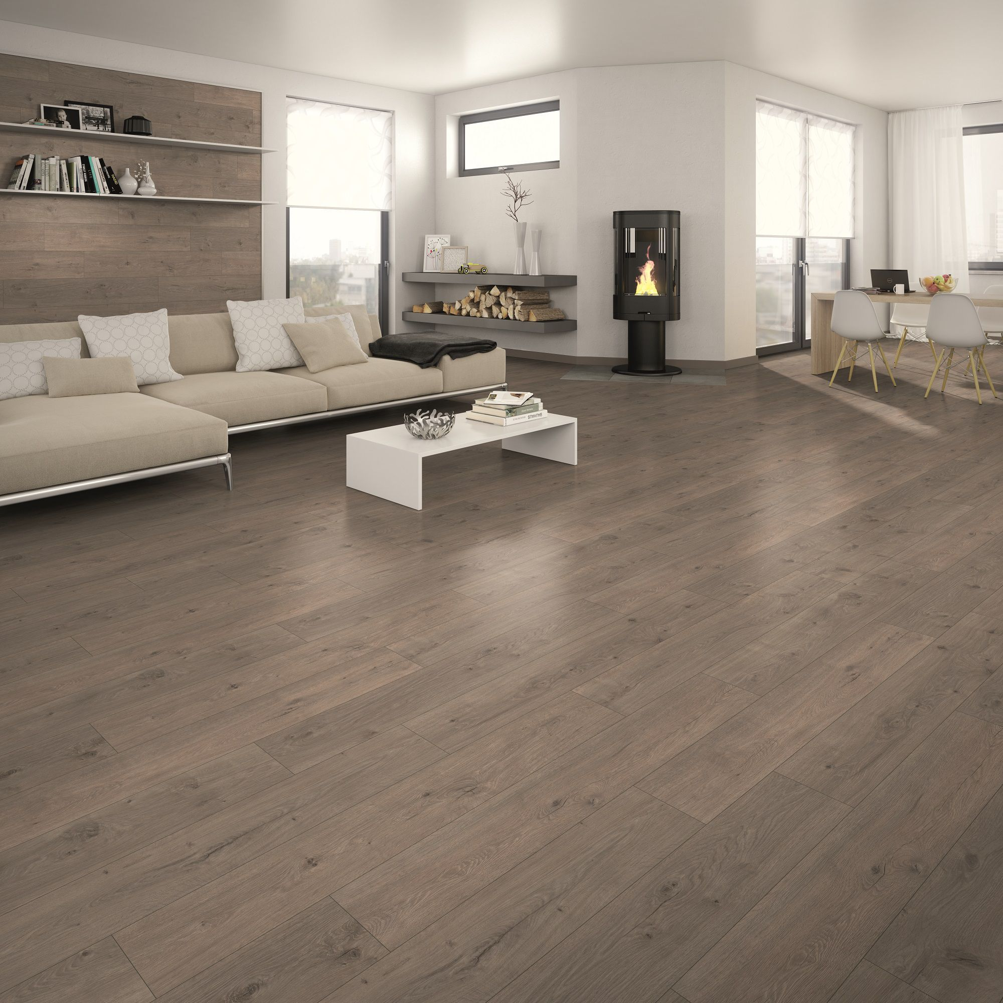 Marapi Grey Laminate flooring 1.736 m² Departments DIY