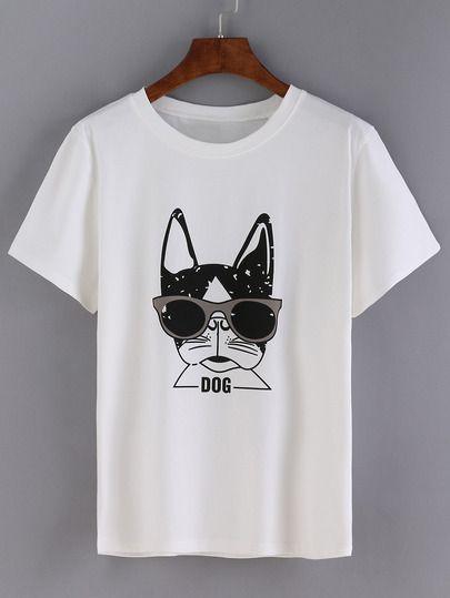 Beautiful Girls 2019 Camiseta En Estampado BlancoFor Perro 2IDYWEH9