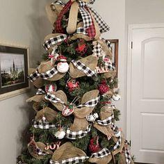 Christmas Vintage Log Decor / Christmas Door Decor
