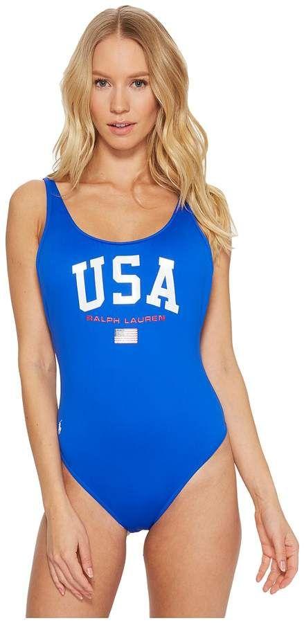 9b788a1487117 Polo Ralph Lauren USA One-Piece Swimsuit Women's Swimsuits One Piece ...