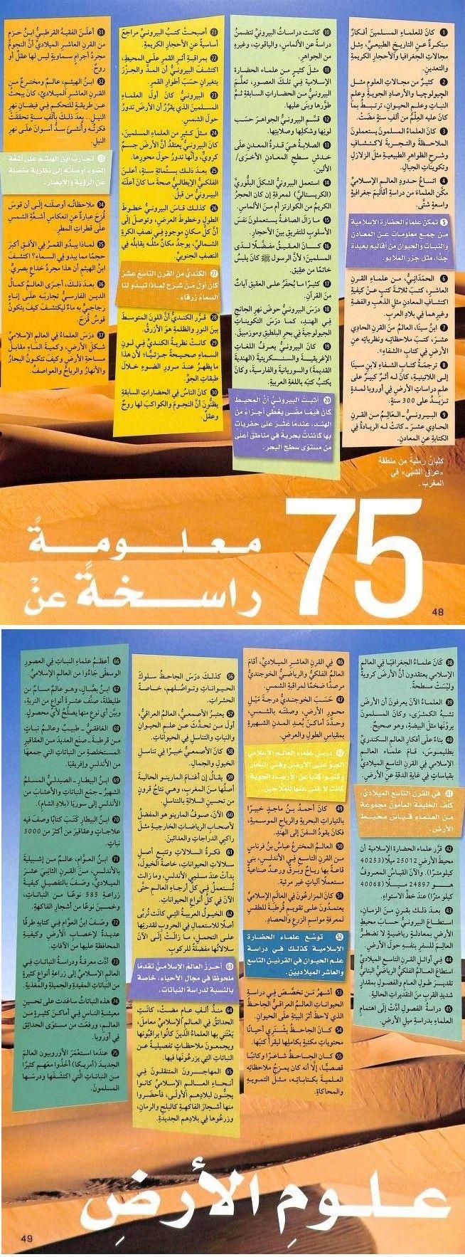إحصاءات مدهشة تخص الحضارة الإسلامية خلال عصورها الدهبية Periodic Table
