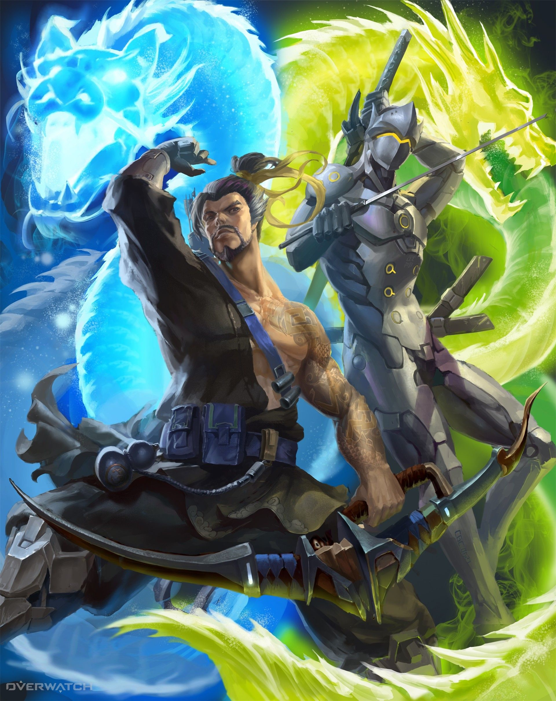 ArtStation - Overwatch: Double Dragon brothers, Chen Gang