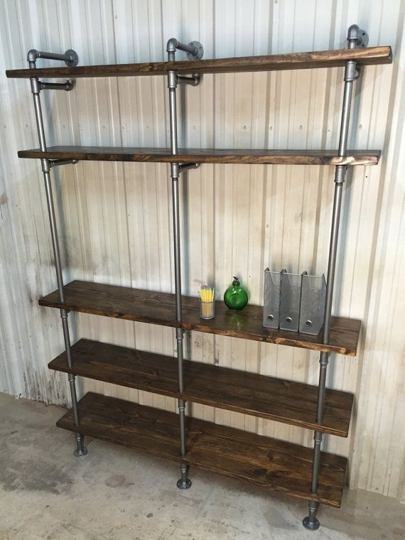 industrial living room shelf - industrial large pipe shelving unit