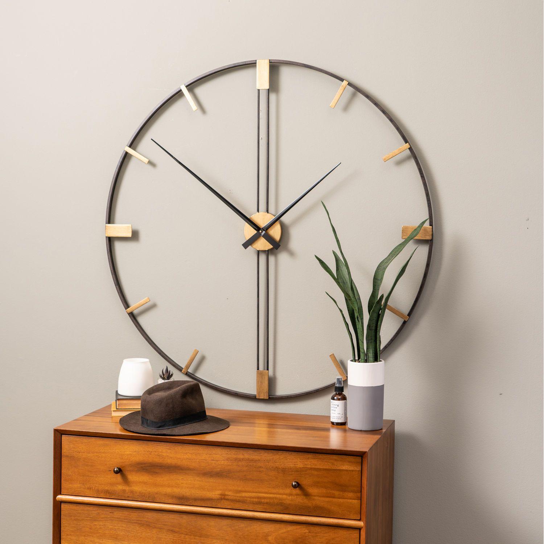 Cooper Classics Camden Distressed Black 41 Inch Wall Clock 41758 Bellacor In 2020 Wall Clocks Living Room Wall Clock Design Black Wall Clock