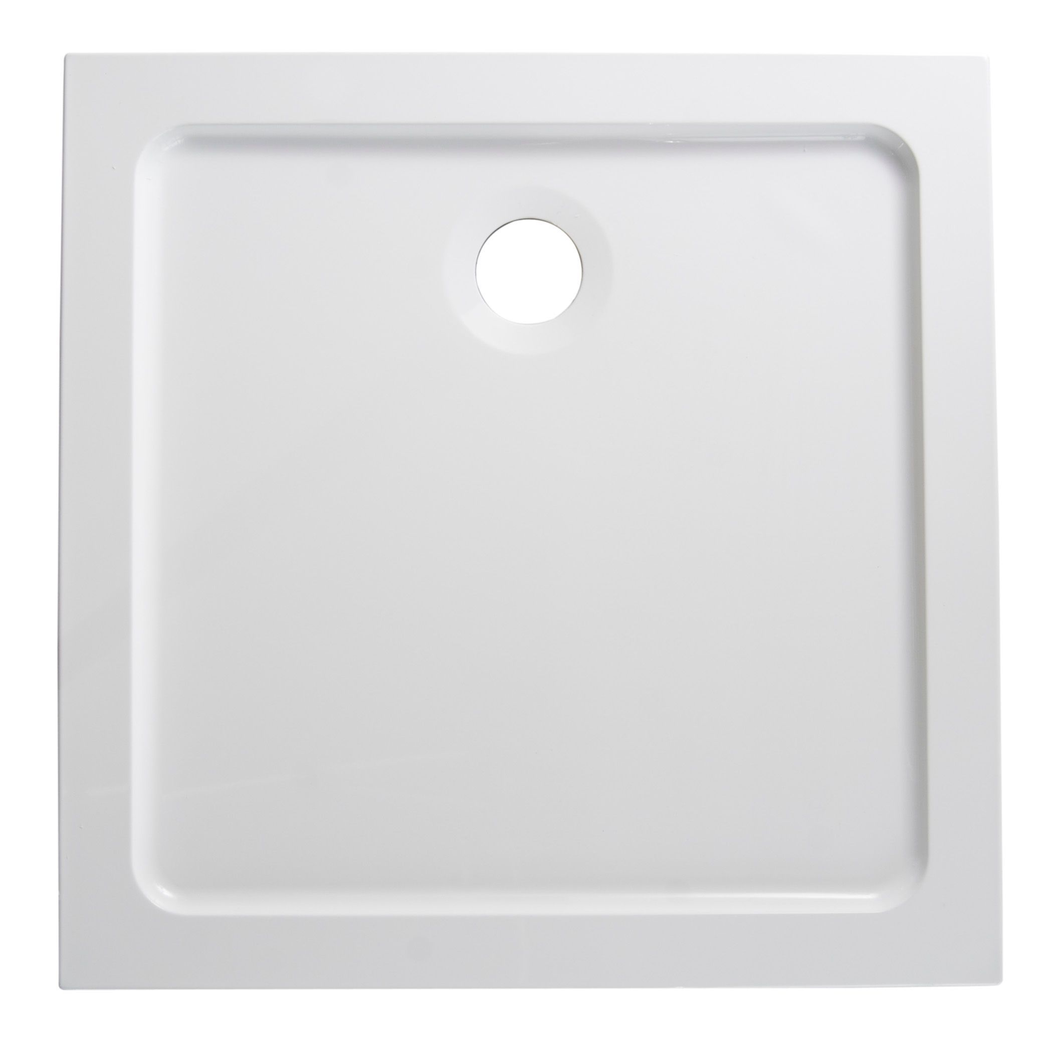 B&Q Low Profile Square Shower Tray (L)800mm (W)800mm (D)40mm | Trays ...