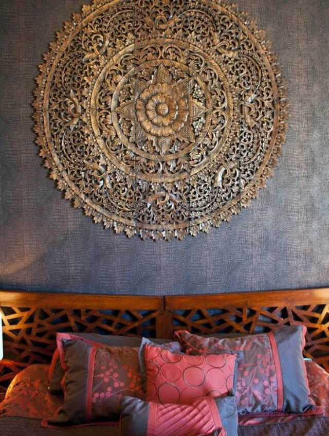 stone tadelakt wall with gold plated cut out ornament artistic rh pinterest com