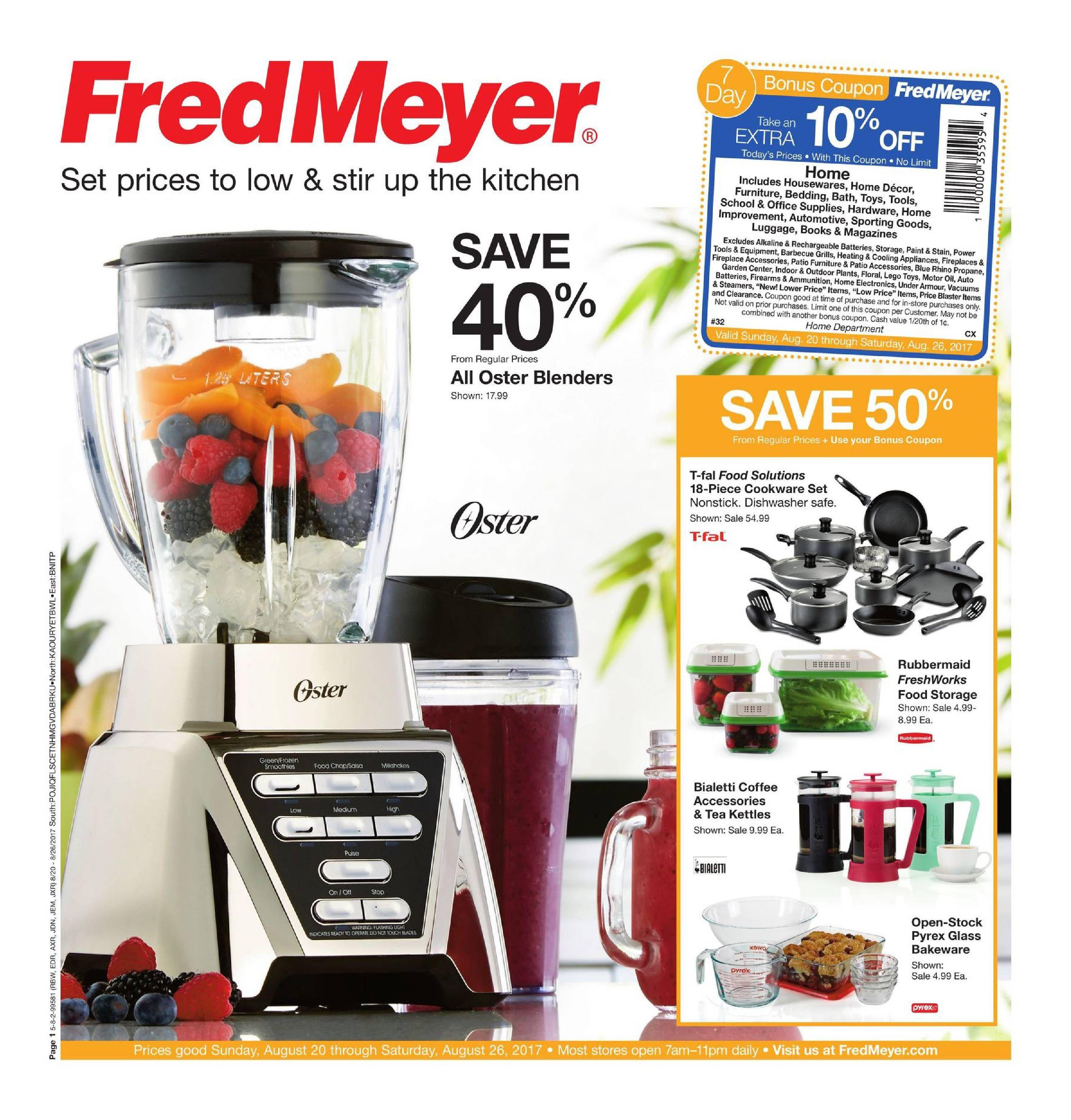 Fred Meyer Merchandise Ad August 20 - 26, 2017 - http://www ...