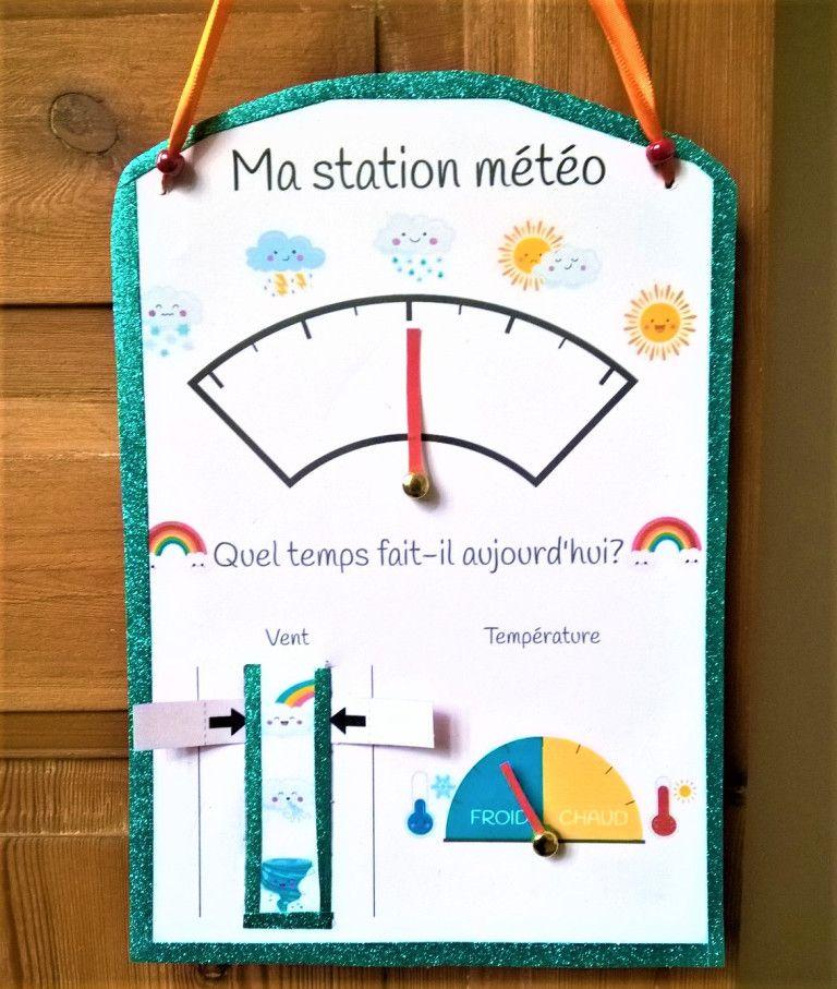 Faire La Pluie Et Le Beau Temps Ma Station Meteo A Imprimer En