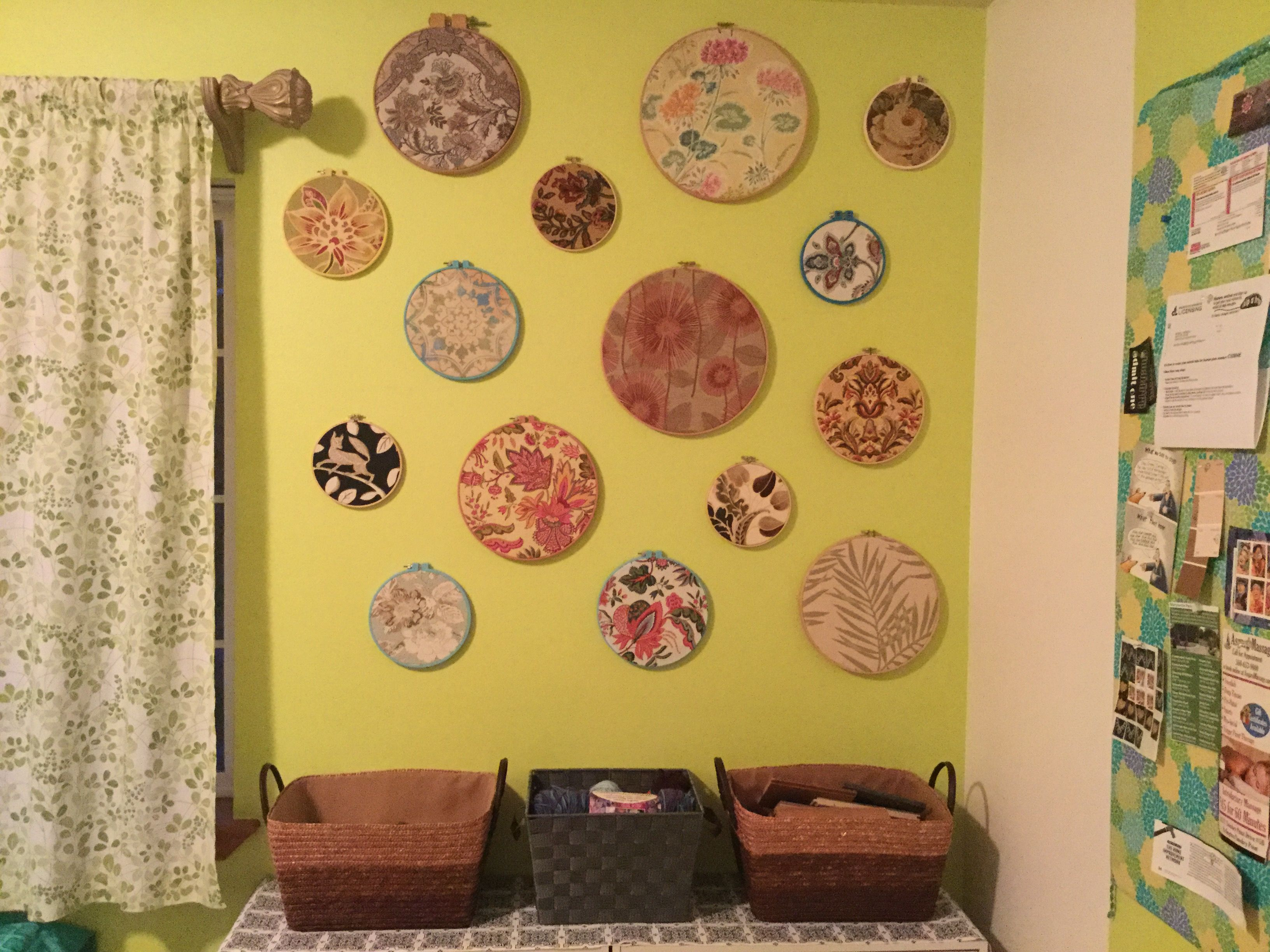 Part of my \'hoop art\' collection :) I make them from free fabric ...