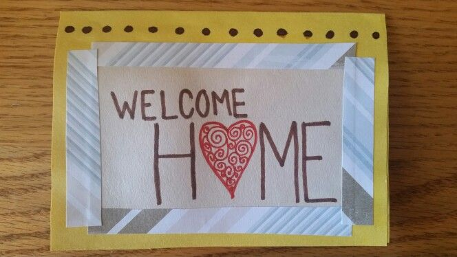 welcome home card  welcome home house of cards cards