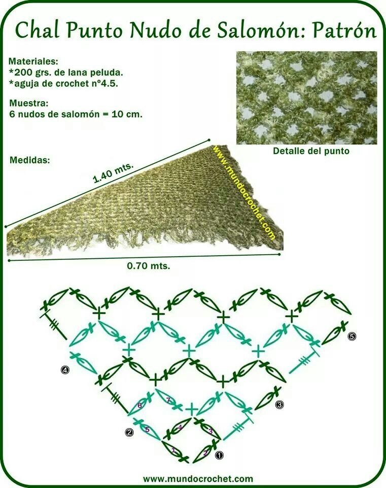 Magic Knot Knitting Diagram : Solomon knots shawl useful chart for increasing