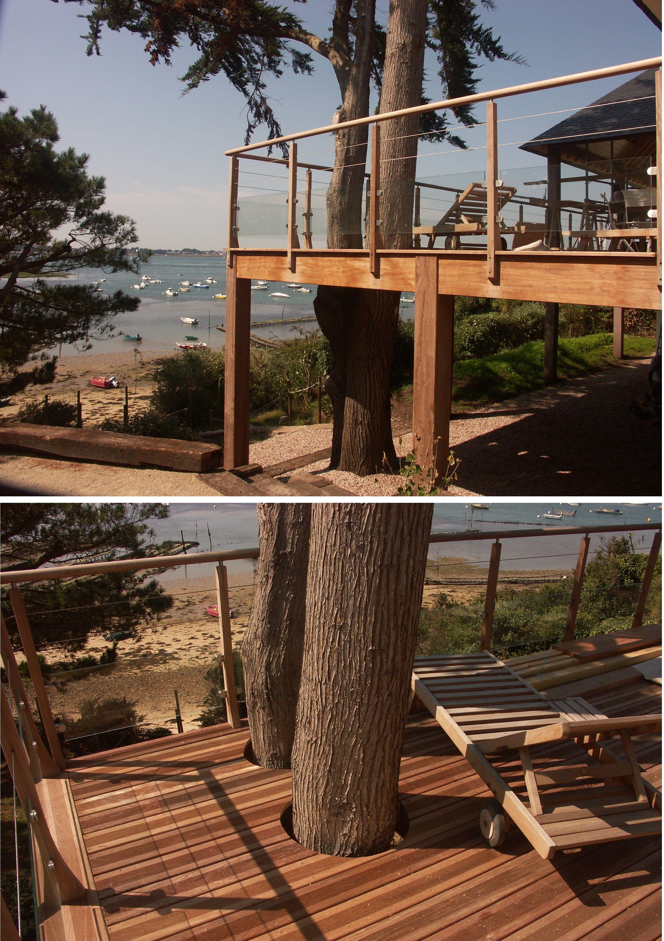 terrasse en ipe sur ossature en iroko bois exotique classe 4 terrasse bois maison. Black Bedroom Furniture Sets. Home Design Ideas