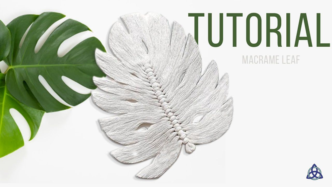 DIY Macrame Leaf Macrame Feather Macrame Wall Hanging